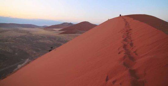 Climbing the Dunes of Sossusvlei at Sunrise