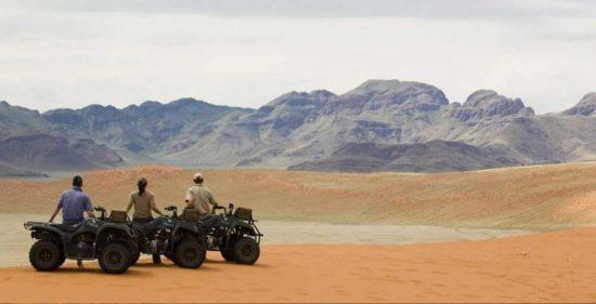 Quadbiking on the dunes of Sossusvlei