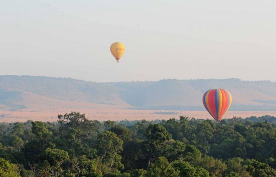A Balloon Safari over the Masai Mara