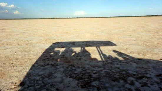 """""""Our vehicle reflection In the Salt Pan"""" 
