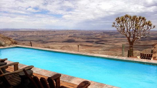 """Destination: The Fish River Lodge. """"The lodge is perched on the edge of the 2nd largest canyon in the world, next to the Grand Canyon in the USA."""""""