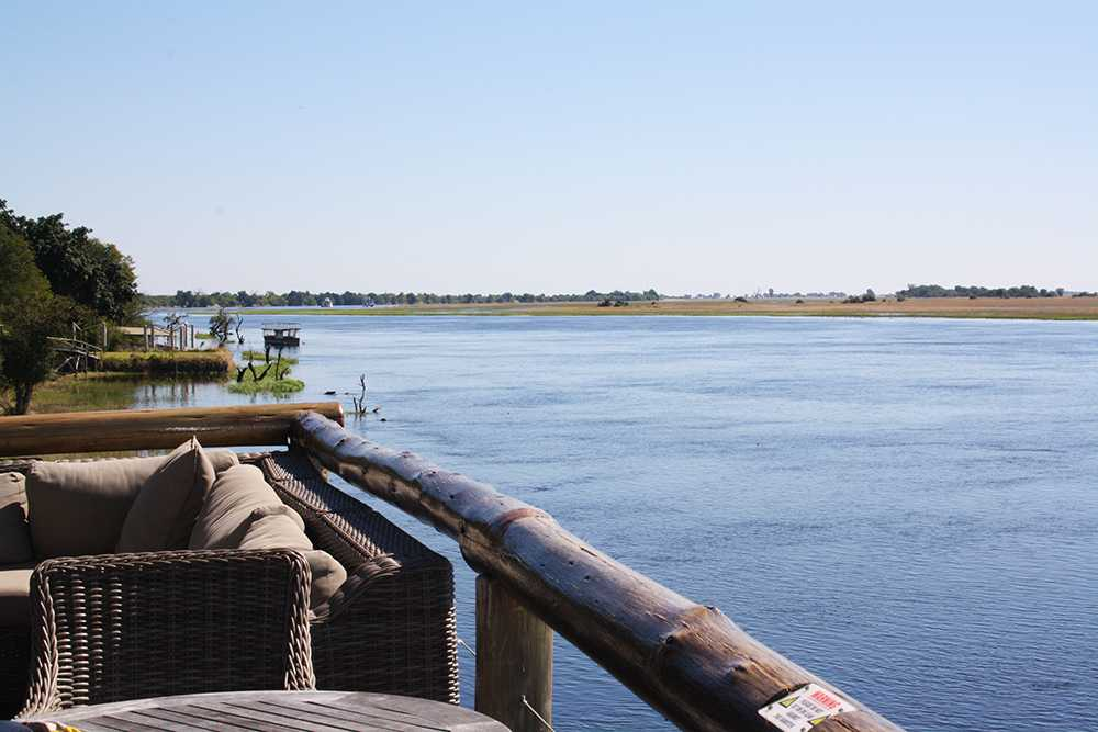 Our view from the deck at Chobe Game Lodge
