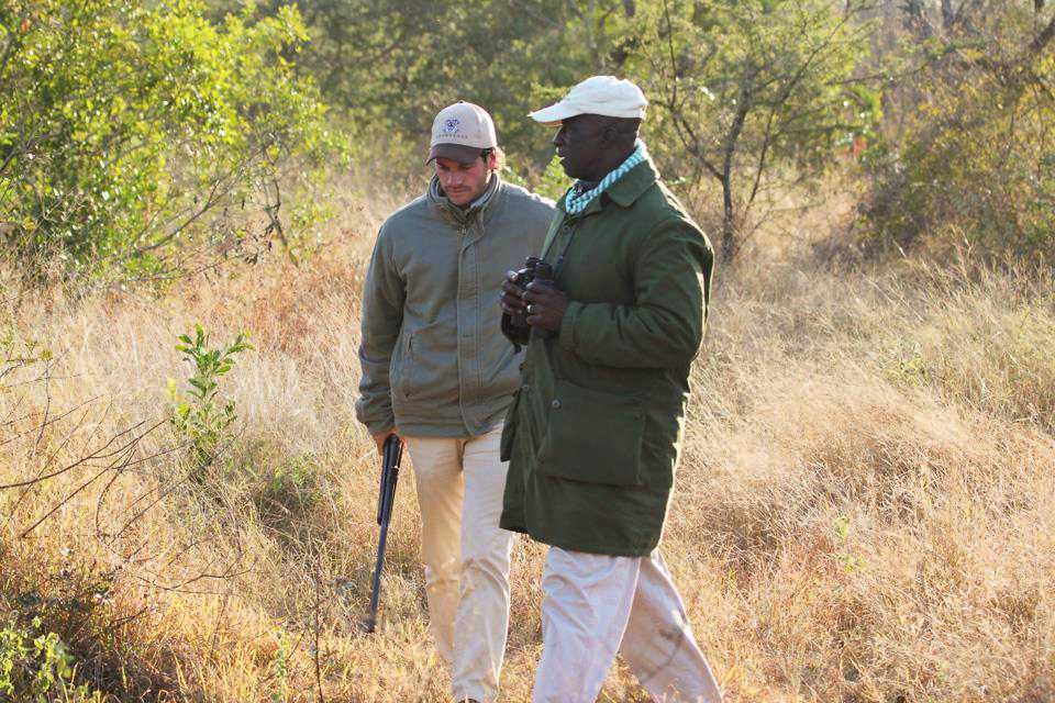 """""""Mark and Elmon tracking the lions..."""""""