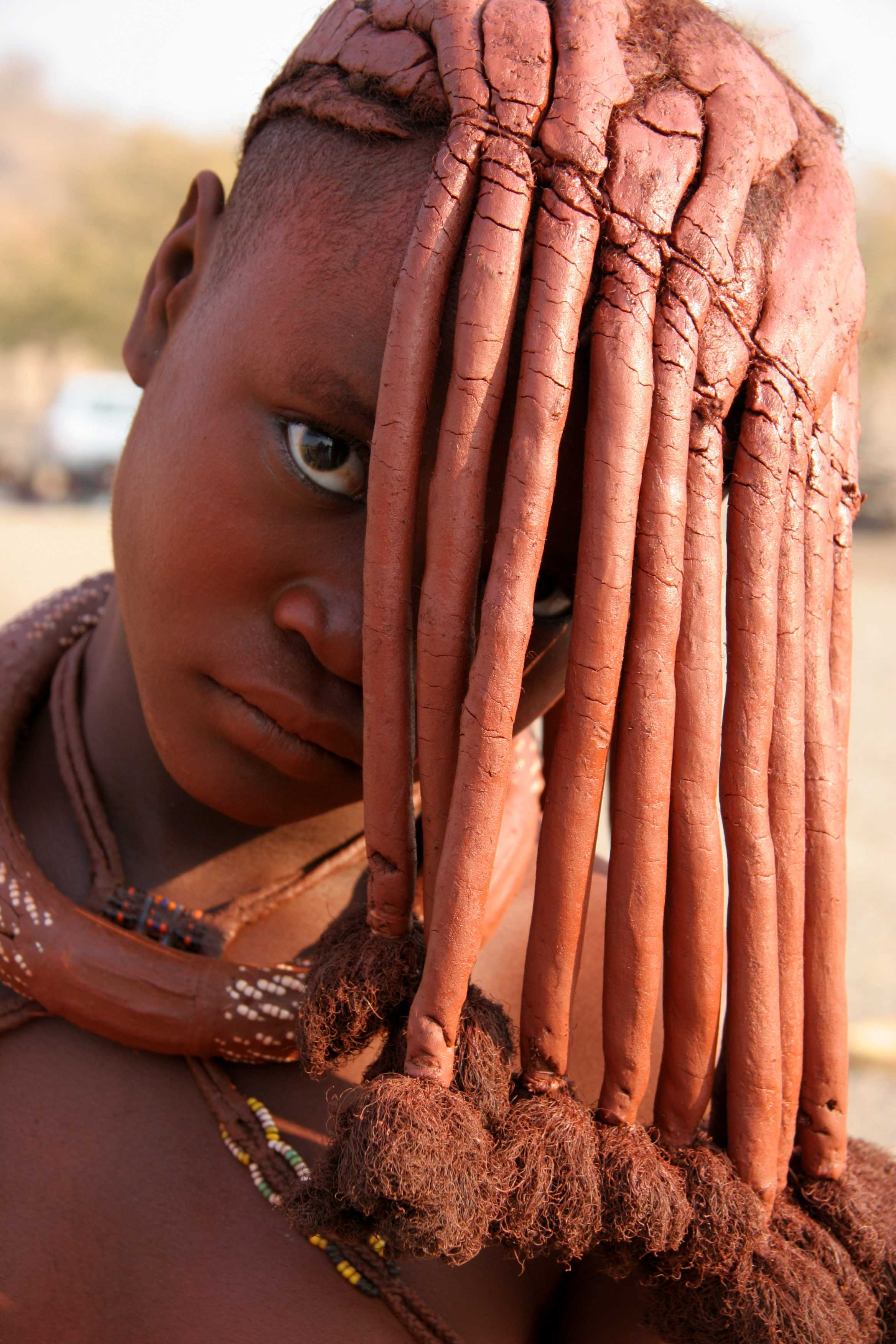 himba tribe member in northern Namibia