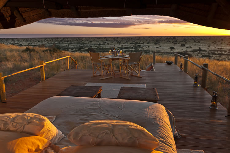 Tswalu sleepout deck Kalahari South Africa