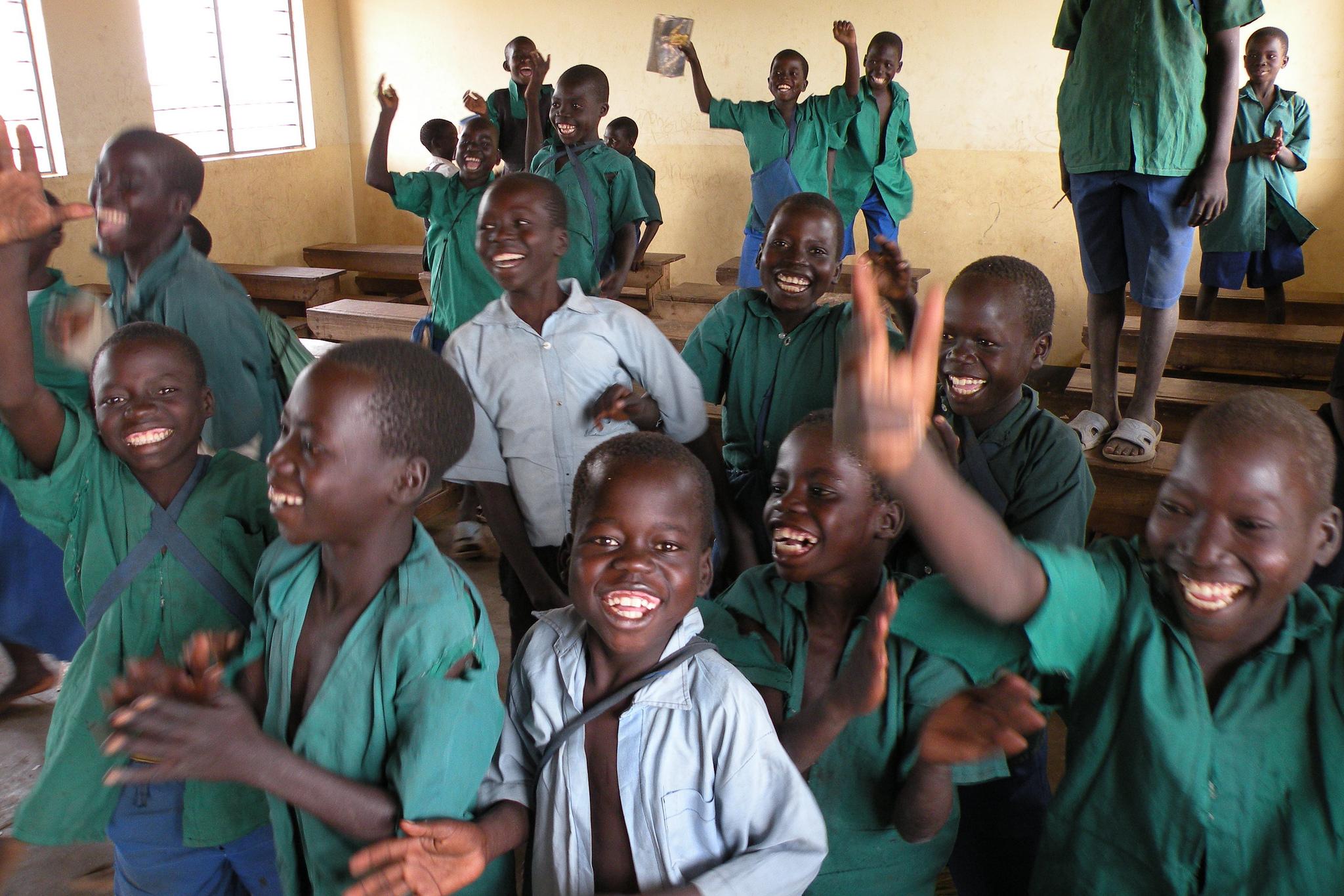 Friendly African children