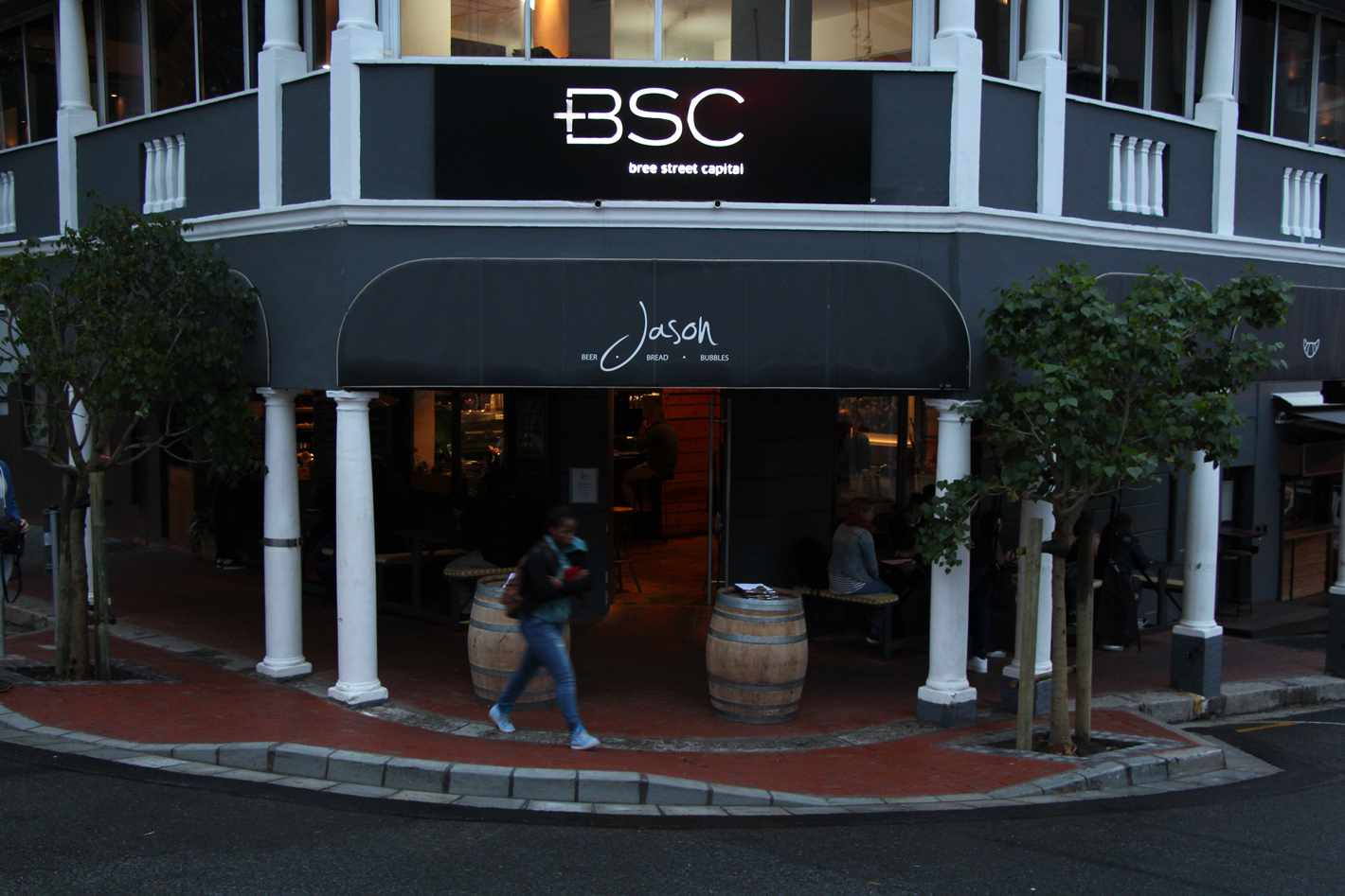 Front view of Jason's bakery on Bree Street
