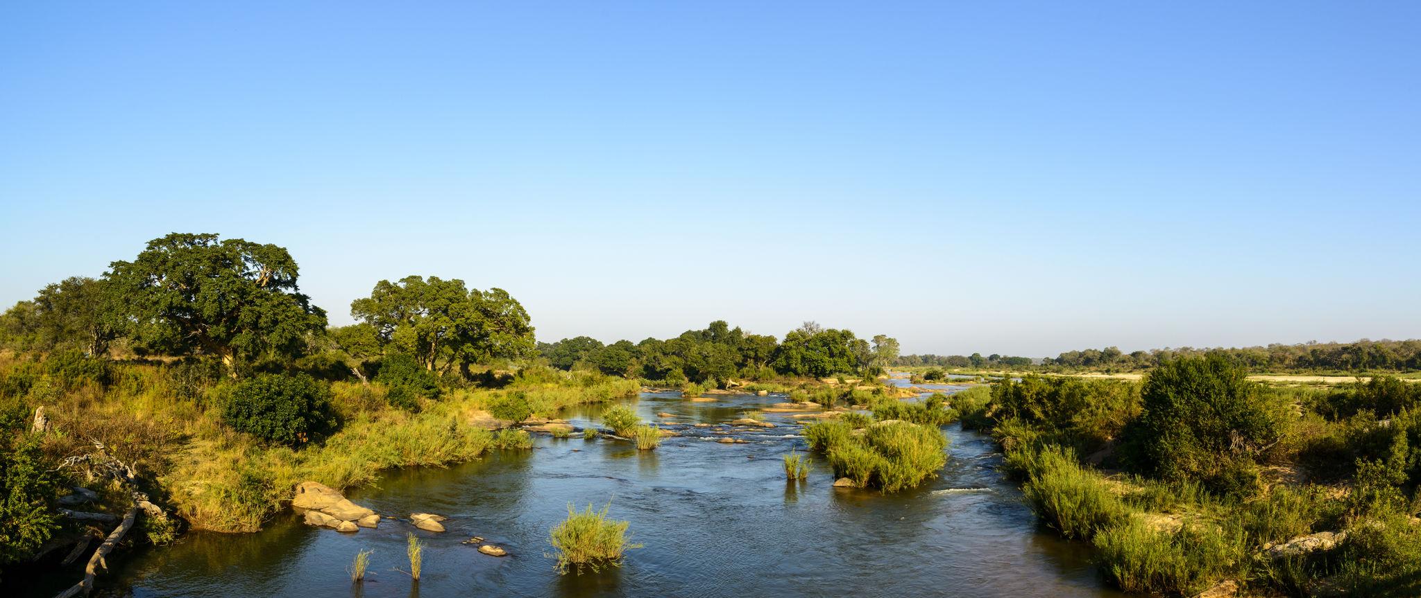 Kruger river in kruger national park