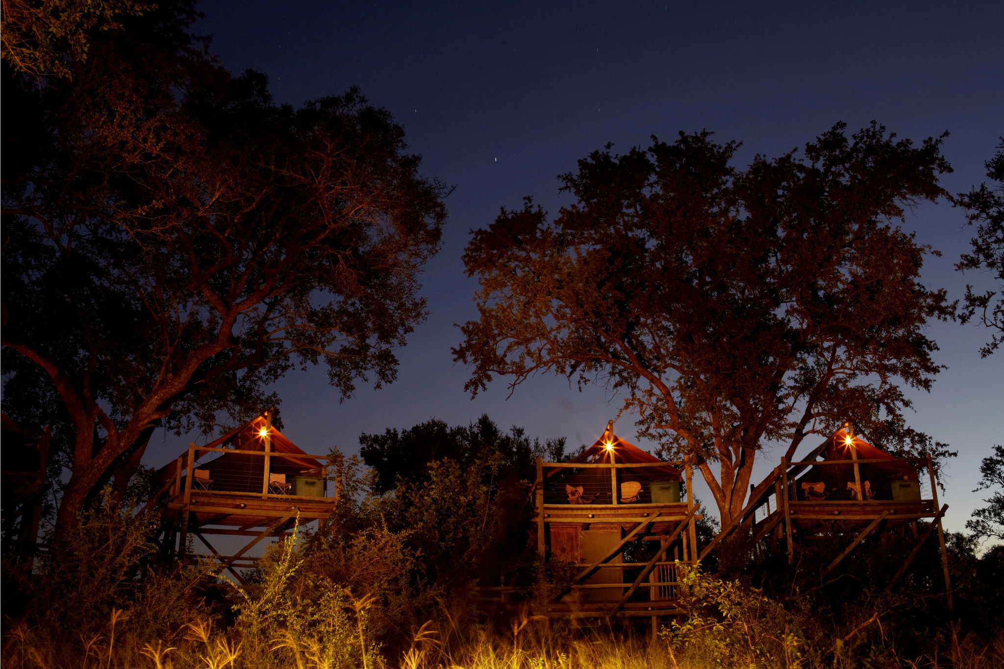 Exterior of Rhino Walking Safaris in the evening