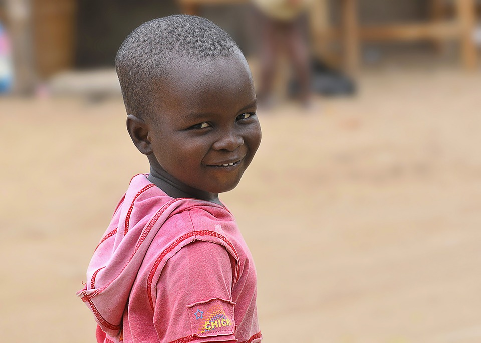 Orphan African Portrait Black Child Africa