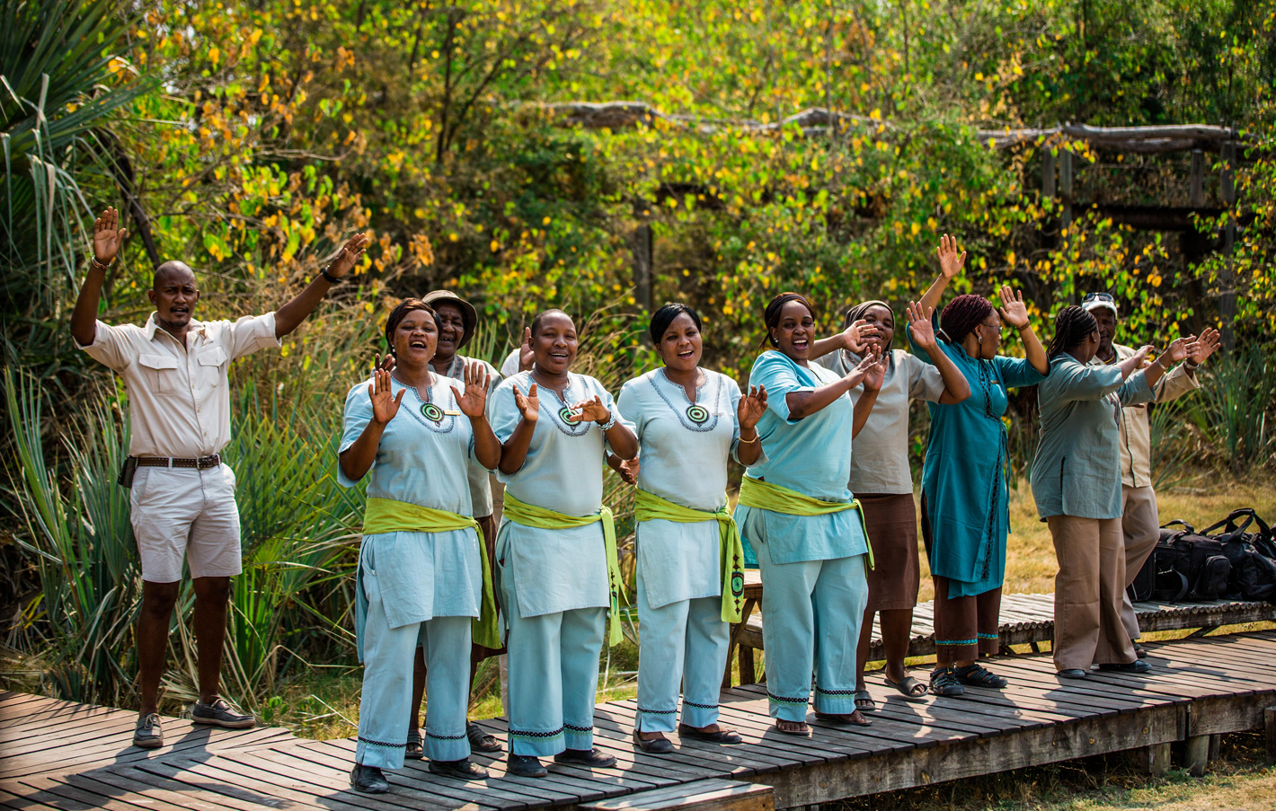 greeting song in botswana