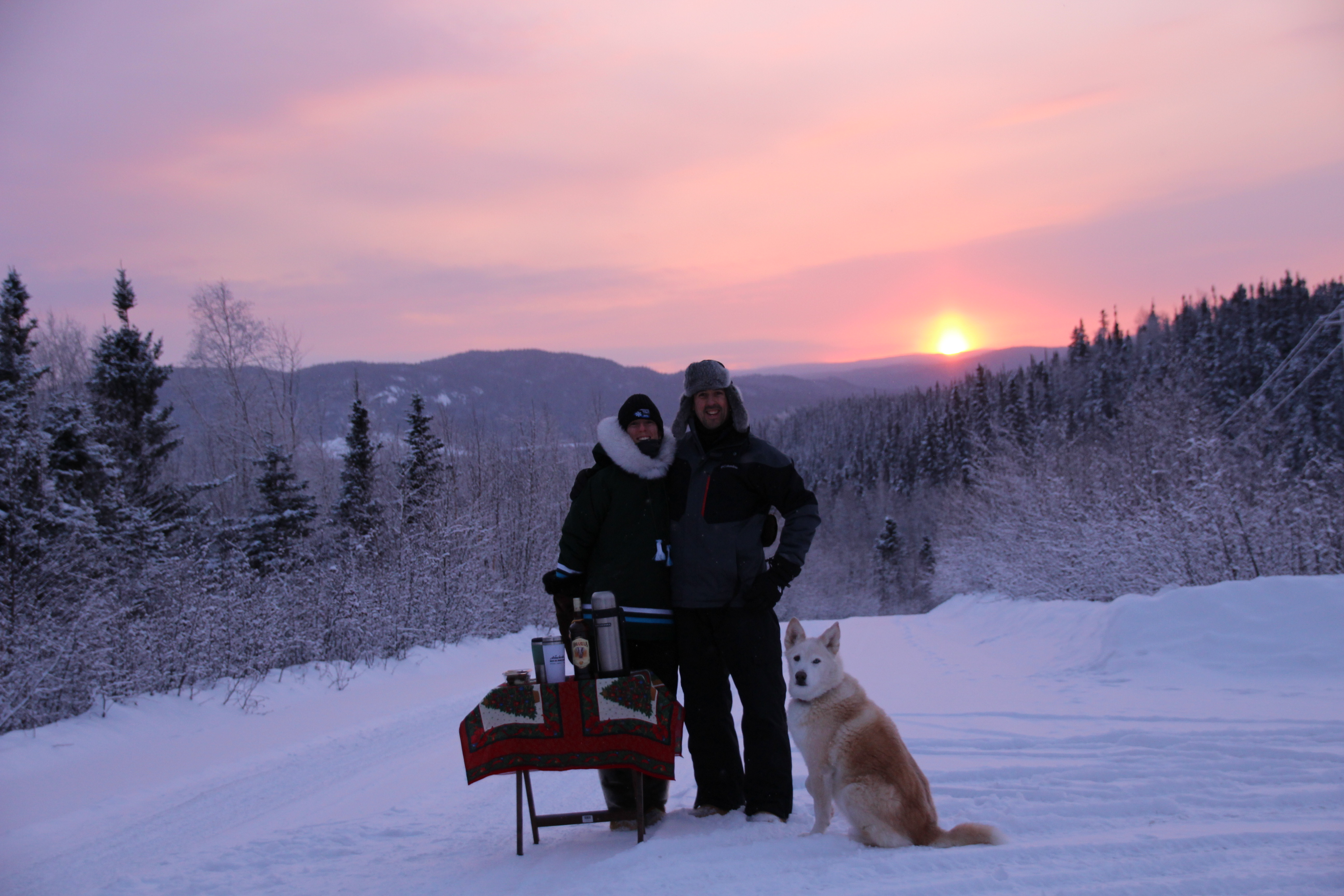 sundowners in Labrador, Canada