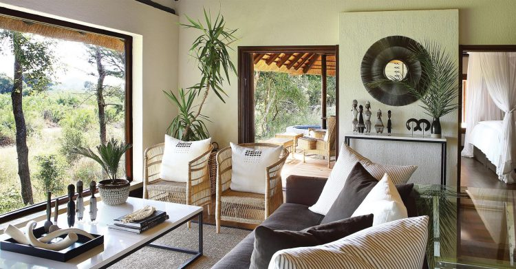 Una de las suites de Londolozi Tree Camp