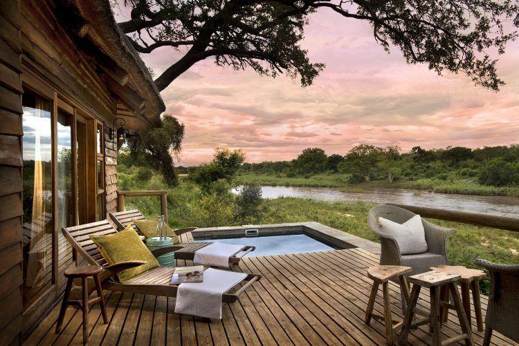 Una de las suites Een Lion Sands Narina Lodge