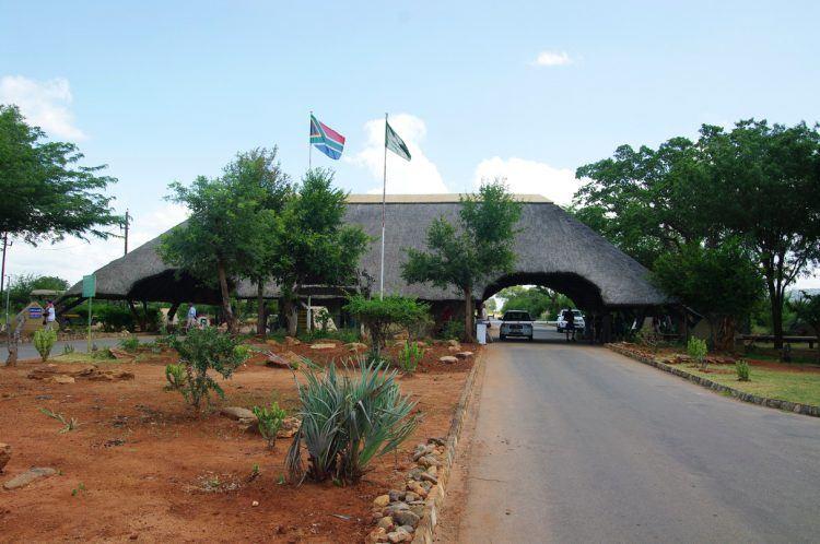 Entrada Malelane del parque Kruger