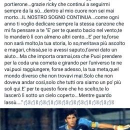 Lys Gomis, portiere del Frosinone, fa gli auguri a Riccardo..