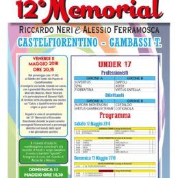 12°Memorial, il programma
