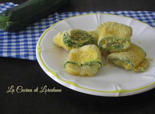 Ricetta: rotolini di zucchine croccanti al forno