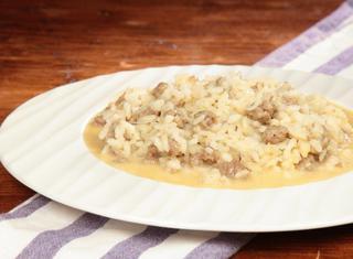 Ricetta: risotto con salsiccia e stracchino