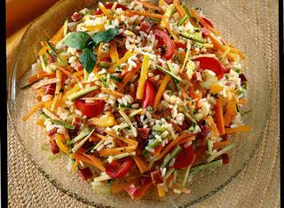 Riso in insalata con verdure