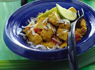 Come fare il pollo cocco e spezie