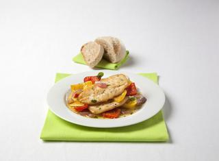 Ricetta: petti di pollo con peperoni