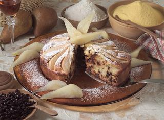 Torta pere e cioccolato alle due farine