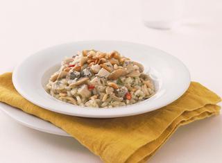 Risotto ai funghi champignon e gorgonzola