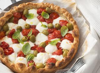 Pizza veloce con base di pasta sfoglia