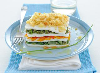 Millefoglie salata di verdure estive