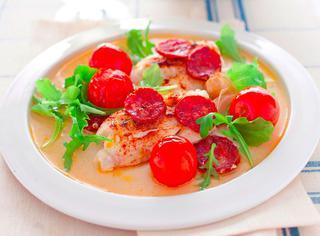 Merluzzo sfizioso con pomodorini