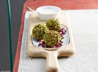Polpette di spinaci, pistacchi e ricotta