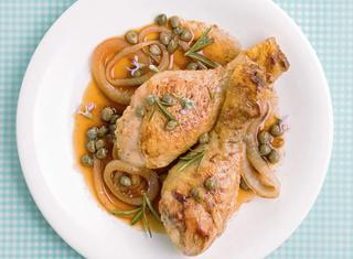 Cosce di pollo all'agro