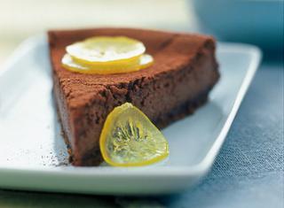 Cheesecake al limone e cioccolato