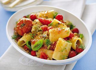 Paccheri con pomodorini confit