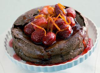 Torta morbida al cioccolato e arancia
