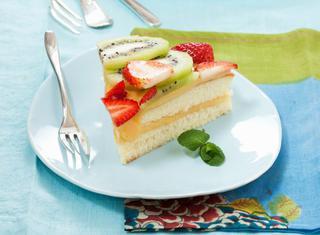 Torta alla frutta senza burro e uova