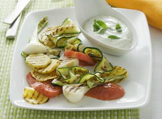 Verdure grigliate con salsa light