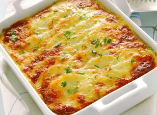 Gratin di patate e formaggio