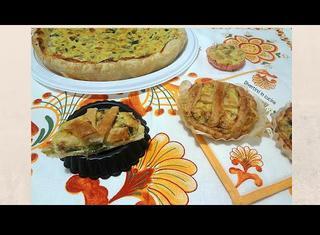 Come preparare la torta salata di zucchine, ricotta e crema di mandorle