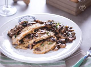 Ricetta: scaloppine ai funghi