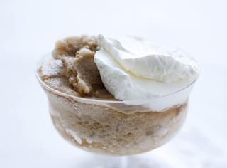 Granita siciliana con panna