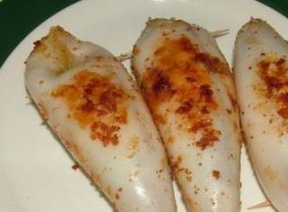 Calamari ripieni grigliati alla siciliana