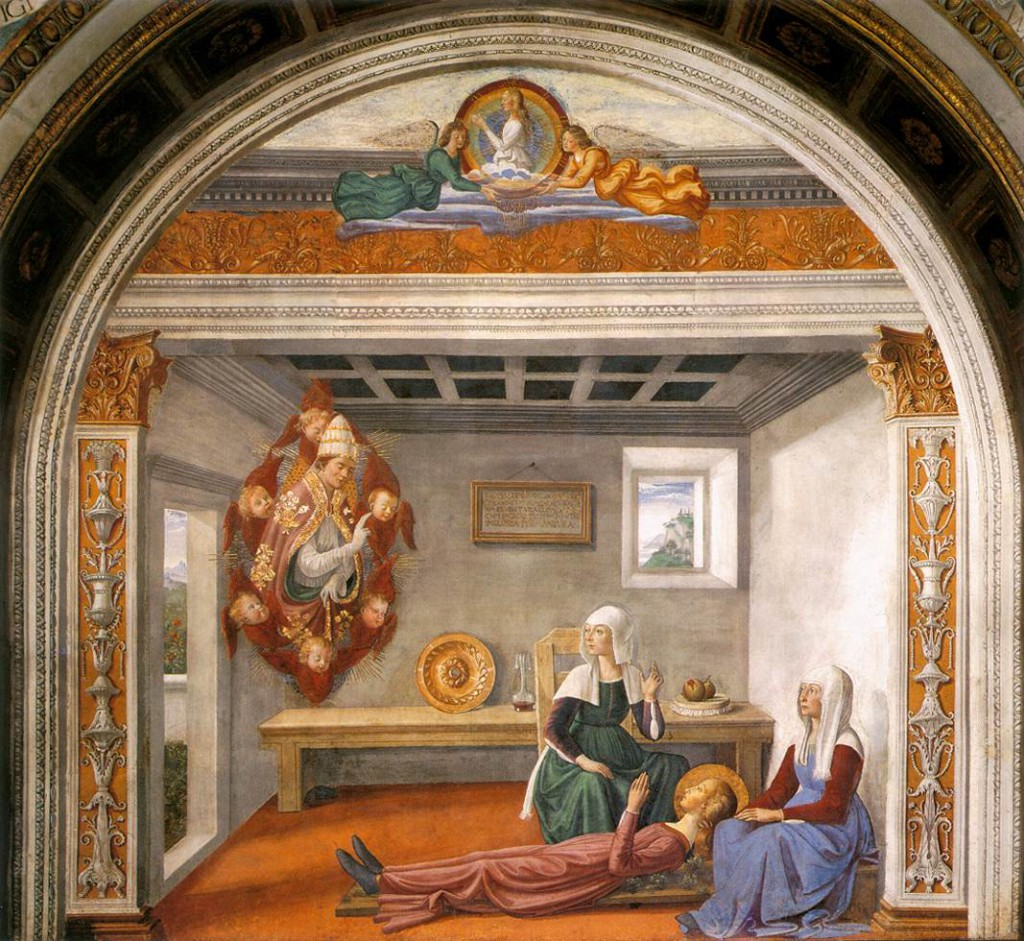 Domenico_Ghirlandaio_-_Announcement_of_Death_to_St_Fina_-_WGA08755