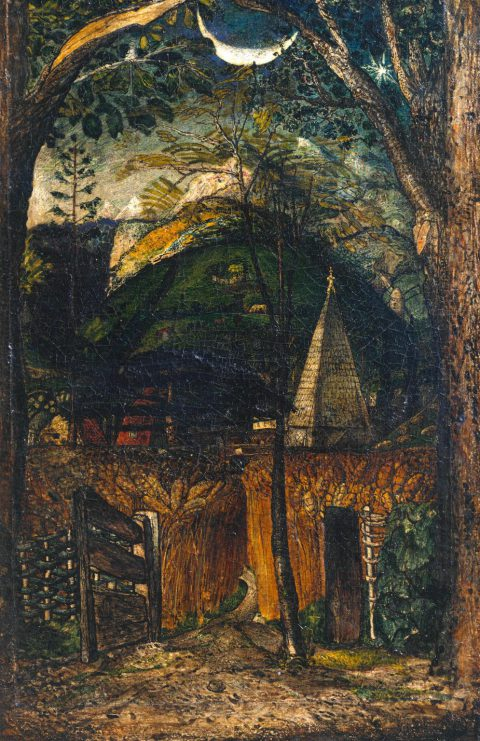 A Hilly Scene c.1826-8 by Samuel Palmer 1805-1881