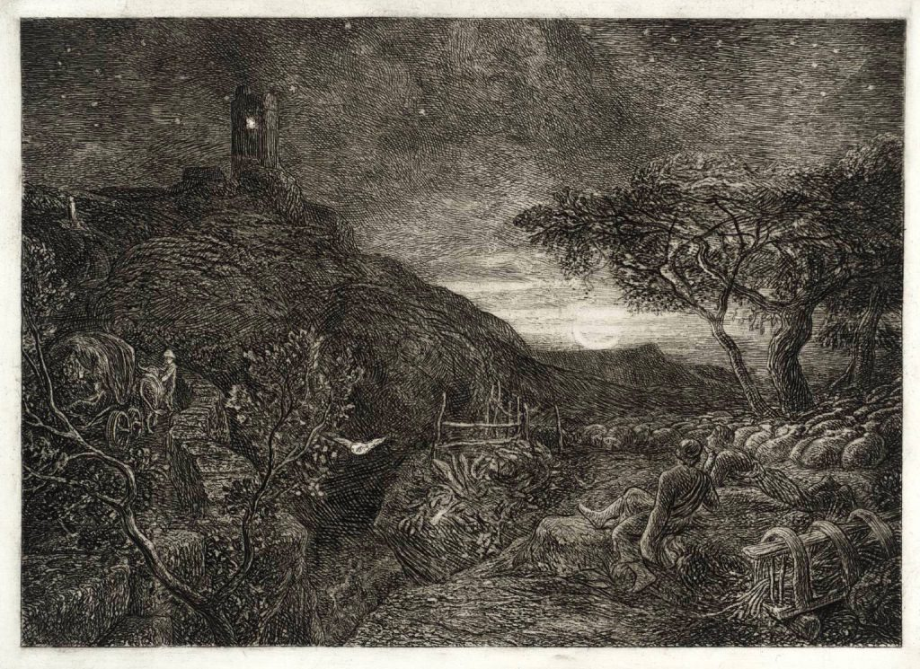 The Lonely Tower 1879, reprinted 1973 by Samuel Palmer 1805-1881