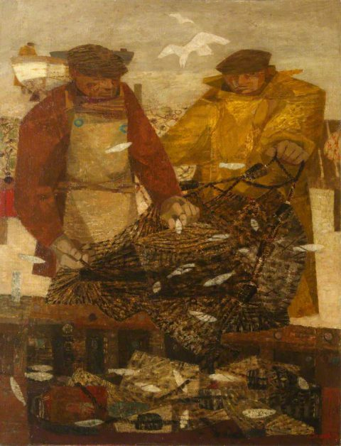 Clough, Prunella, 1919-1999; Fisherman with Sprats