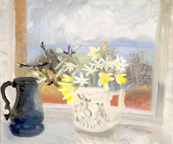 Daffodils and Pewter Jug