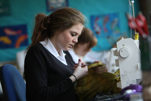 Sewing in textiles
