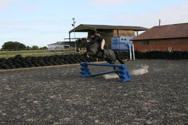 Jumping lesson at Bylam Livery Stables